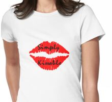 simply kissable sexy red lips fun party tee  Womens Fitted T-Shirt