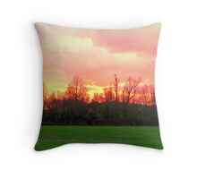 Sunset in Wendell Throw Pillow