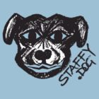 Cheeky Staffy Dog by amanda metalcat