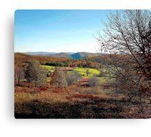Mountain Farm in Fall Canvas Print