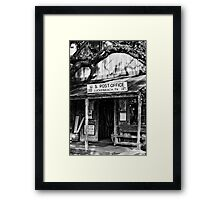 Luckenbach Texas BW Framed Print