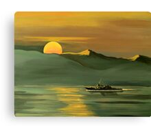 USS John Paul Jones-Strait of Hormuz Canvas Print