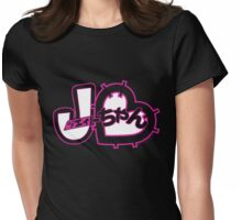 J-Chan (ジェイちゃん) On Black Womens Fitted T-Shirt