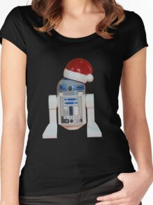 R2-D2 Santa Women's Fitted Scoop T-Shirt