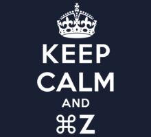 Keep Calm Geeks: Command Z Kids Tee