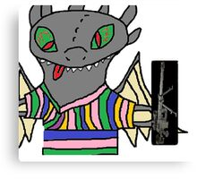 Toothless with an intervention MLG Canvas Print
