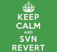 Keep Calm Geeks: SVN Revert One Piece - Short Sleeve