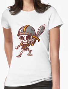 Chibi Skeleton Knight Womens Fitted T-Shirt