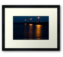 Wool Bay jetty at night from the shore Framed Print