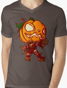 Chibi Pumpkin man Mens V-Neck T-Shirt