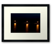 Wool Bay jetty at night from the cliff top 2 Framed Print