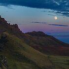 Almost full moon on isle of skye by Birgit Van den Broeck