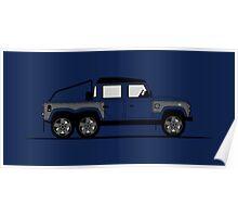 Land Rover Defender 110 Double Cab Pick Up Flying Huntsman 6x6 Poster
