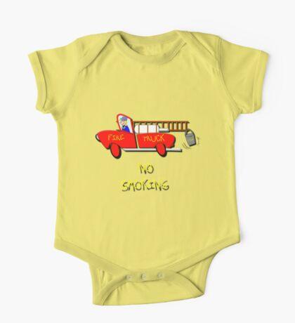 Fire Truck - No Smoking, T-shirt One Piece - Short Sleeve
