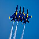 The Blue Angels Climbing - Ipad Cover by Jim Haley