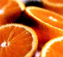 Sliced Oranges Fruit Poster, Print & Card by Oldetimemercan