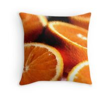 Sliced Oranges Fruit Poster, Print & Card Throw Pillow