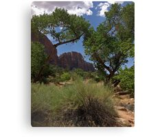 Foliage Framework Canvas Print