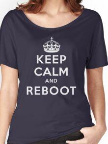 Keep Calm Geeks: Reboot Women's Relaxed Fit T-Shirt
