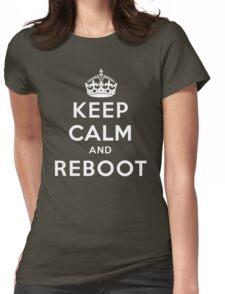 Keep Calm Geeks: Reboot Womens Fitted T-Shirt