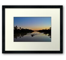 Dreamtime Fishing Framed Print