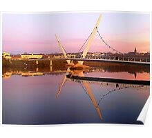 The Peace Bridge At Sunset Poster