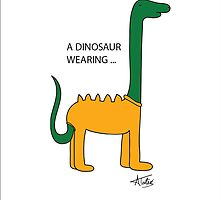 A Dinosaur wearing a Onsie by Amar Taterio