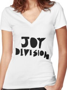 JOY DIVISION ♥ Women's Fitted V-Neck T-Shirt