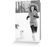 Snow Tag ~ Greeting Card