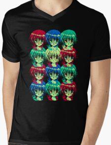 Bright, Hopeful Faces Mens V-Neck T-Shirt