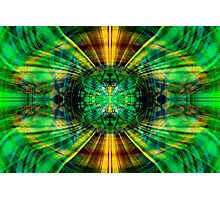 Futuristic green and yellow sphere Photographic Print