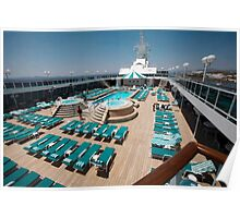 CAPTURE OF THE POOL AREA ON CRYSTAL SERENITY CRUISE SHIP Poster