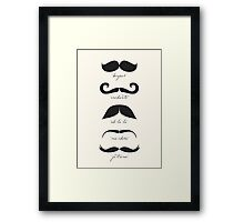 Monsieur Moustache Framed Print