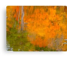 The watery easel of October Canvas Print