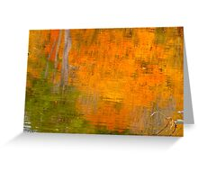 The watery easel of October Greeting Card