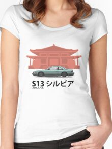 Nissan Silvia S13 #2 - Temple Women's Fitted Scoop T-Shirt
