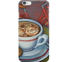 Red Dutch Bicycle with Cappuccino and Amaretti iPhone Case/Skin