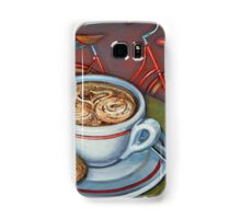 Red Dutch Bicycle with Cappuccino and Amaretti Samsung Galaxy Case/Skin