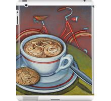 Red Dutch Bicycle with Cappuccino and Amaretti iPad Case/Skin