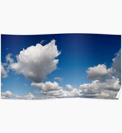 Blue sky and clouds Poster