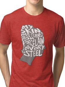porcelain ivory steel Tri-blend T-Shirt