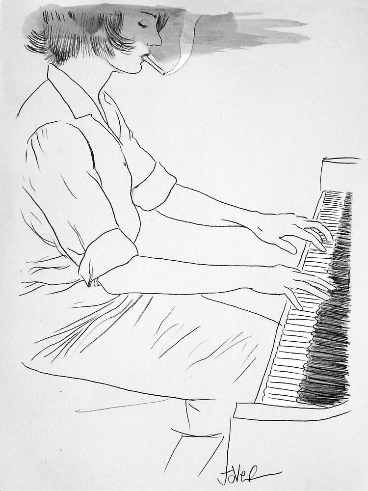 she plays jazz on sundays by Loui  Jover