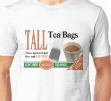 Tall Tea Bags: The tea bag that's shaped like a really TALL TOWER! Unisex T-Shirt