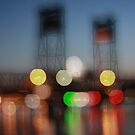 The Clyde River Bridge ~ at night by Emma  Wertheim