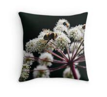 Busy Bees- Wychwood Garden, Mole Creek, Tasmania Throw Pillow