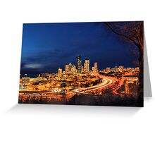 Seattle Rush Hour Greeting Card