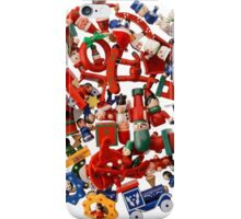 Multicolored Christmas decorations iPhone Case/Skin