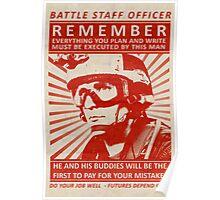 Battle Staff Officer Poster