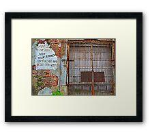 Rental Decay Framed Print