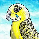 Bindie the Budgie by kewzoo